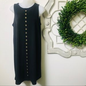 -•Michael Kors Black Dress Gold Studs•